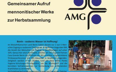 Dankopfer 2021 – Gemeinsamer Aufruf mennonitischer Werke zur Herbstsammlung.
